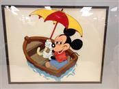 Walt Disney Mickey Mouse In a Boat Serigraph Cel